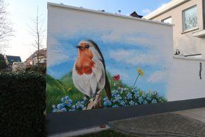 schildering tuinmuur