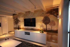 Sepia-wandschildering-woonkamer