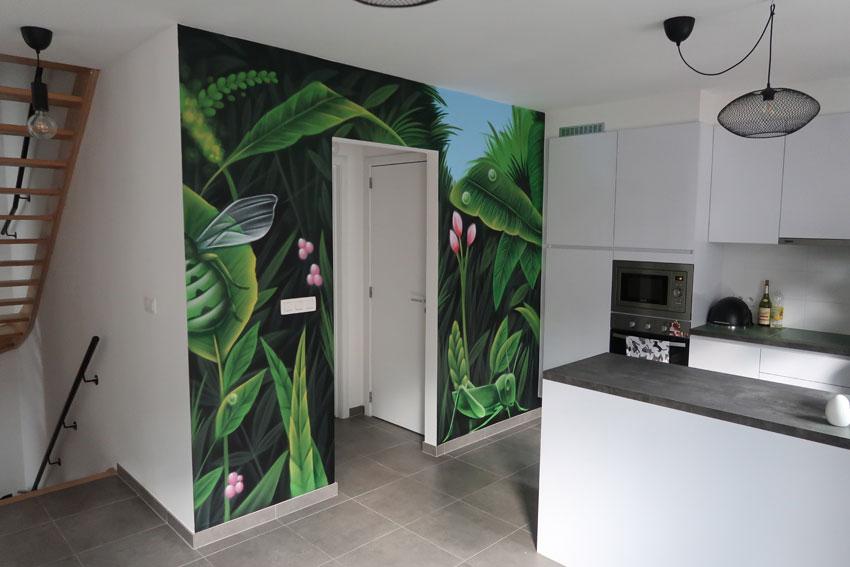 street-art jungle schildering